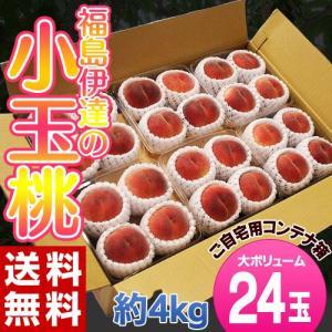 《送料無料》福島県産「伊達の小玉桃」24玉(4玉×6パック)...