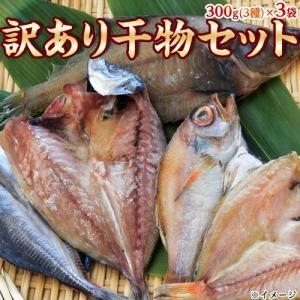 魚 干物 セット 訳あり 訳アリ干物セット 3種×3袋 合計900g 300g×3 送料無料|tsukiji-ichiba2