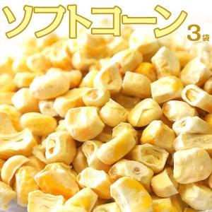 コーン とうもろこし トウモロコシ 送料無料 北海道 取り寄せ 美瑛産とうもろこしのフリーズドライ ソフトコーン 3袋 (1袋あたり25g) 常温 ネコポス|tsukiji-ichiba2