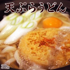 麺 うどん 饂飩 ウドン 送料無料 本場香川直送 天ぷらうどん ゆで麺 30食入り かき揚げ つゆ入り 常温 同梱不可|tsukiji-ichiba2