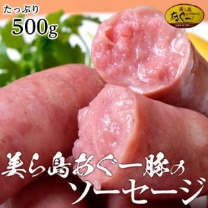 ソーセージ ギフト 美ら島あぐー豚100%使用 ジューシーな美ら島あぐー豚のソーセージ たっぷり500g ウインナー プレゼント 同梱可能|tsukiji-ichiba2