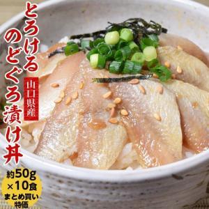 のどぐろ ノドグロ お刺身 山口県産 とろけるのどぐろ漬け丼 お得なおまとめ買い10食セット 50g×10食 冷凍 同梱不可 送料無料|tsukiji-ichiba2