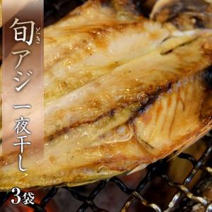 あじ アジ 送料無料 長崎県産 旬アジ [ときあじ] 一夜干し 干物 魚 さかな 80g×3尾×3袋 冷凍 同梱不可|tsukiji-ichiba2
