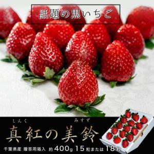 送料無料 いちご 千葉県産 黒いちご 真紅の美鈴 約400g 15粒または18粒 ※冷蔵|tsukiji-ichiba2