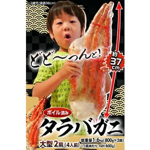 ≪送料無料≫「特大ボイルタラバ蟹」ロシア産 2肩約1.6kg(4人前相当) 【同梱不可】 ☆|tsukiji-ichiba2|03