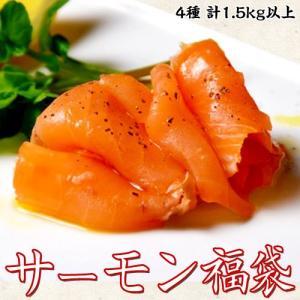 鮭 さけ サーモン 送料無料 人気絶頂!! 『サーモン福袋』 4種 1.5キロ以上 ※冷凍|tsukiji-ichiba2