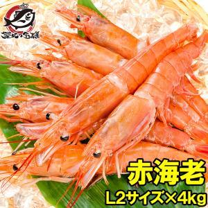 赤海老 赤えび 4kg 特大 L2 30〜60尾 業務用 2kg×2箱 赤エビ あかえび アカエビ ...