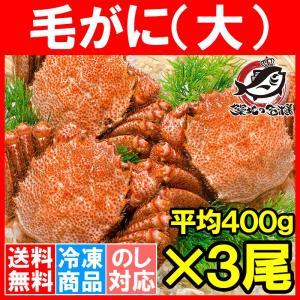 毛ガニ 毛がに 毛蟹 浜茹で 毛ガニ姿 平均 400g ×3尾 合計 約 1.2kg セット かに カニ 蟹 かに鍋 焼きガニ