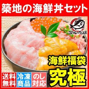 築地の海鮮丼セット<究極・2杯分・4点セット>