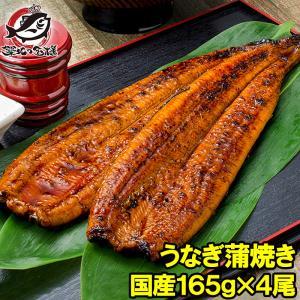 国産うなぎ蒲焼き 大サイズ 平均165g前後×4尾|tsukiji-ousama