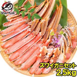 カット済み ズワイガニ ずわいがに セット 合計2.5kg 冷凍総重量約 1.25kg 解凍時約 1kg ×2 かに鍋 かにしゃぶ お刺身 ポーション かに カニ 蟹 詰め合わせ|tsukiji-ousama