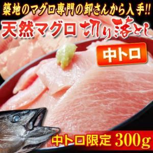 ハラモ(中トロ)限定!! 『天然マグロ』 切り落とし (メバチ・キハダ) 300g ※冷凍 sea ○ tsukijiichiba