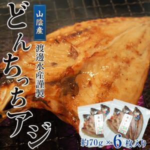 山陰 どんちっち あじ開き 3枚×2パック 冷凍 【食彩】 干物 sea ○ tsukijiichiba