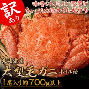 令和元年新物 北海道産 「ちょっと訳あり毛蟹」 堅蟹 1尾 約600g かに カニ 蟹 ケガニ 毛ガ...