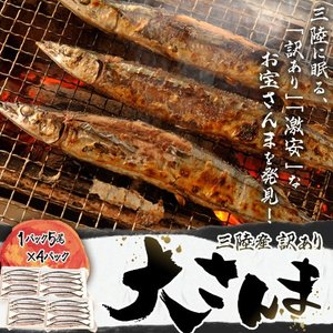 サンマ 秋刀魚 三陸産 宮城加工 『さんま 大サイズ』(143g前後) 1P(5尾)×4P 合計20尾 冷凍 送料無料|tsukijiichiba