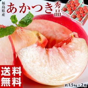桃 もも ギフト 福島県産 伊達の桃 あかつき 秀品 約1.5kg×2箱 送料無料|tsukijiichiba