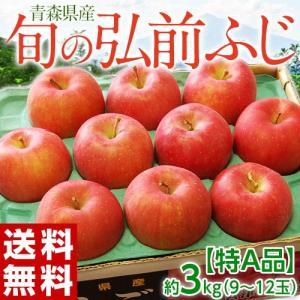 旬の『弘前ふじ』 りんご 青森県産 特A 約3kg( 9〜12玉) ※ 常温 送料無料|tsukijiichiba