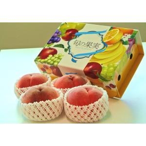桃 もも ギフト 山梨県産 大藤の超大玉桃 4玉 秀品 約1.8kg  化粧箱入 送料無料 ※冷蔵|tsukijiichiba