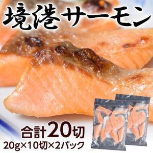 【訳アリ】期待の新生ブランド鮭「境港サーモン」 20g×10切×2袋 ※冷凍 sea ☆|tsukijiichiba
