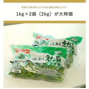 タイ産 塩味付き 枝豆 1kg×2袋 (合計2kg) ニッスイ 解凍してそのまま召し上がれます ※冷凍|tsukijiichiba