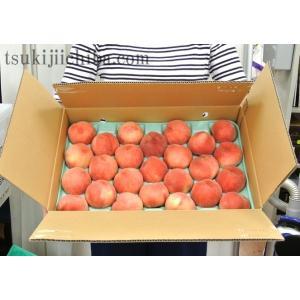 《送料無料》福島県産 伊達の小玉桃 約5kg(22〜25玉)※常温☆|tsukijiichiba