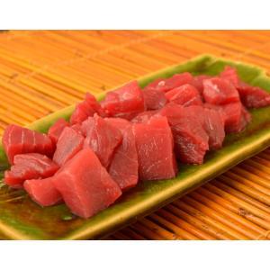 まぐろ マグロ 送料無料 青森 大間 の 本マグロ 赤身ぶつ切り 200g ※冷凍|tsukijiichiba