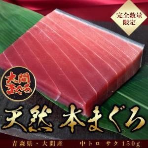 大間の本まぐろ 中トロ・サク(約150g)※冷凍 sea ☆|tsukijiichiba