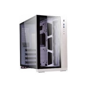 デュアルチャンバー構造のPCケース 側面、前面に強化ガラスパネルを採用