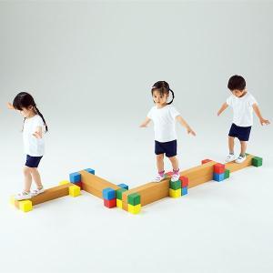 バランス遊具 平均台 ハードル ジャンプ トンネル ブロック型運動遊具 エバテムI(アイ)|tsumura