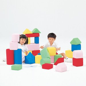 汚れても洗える大型つみきブロック 幼児のブロック遊びに最適なキルディブロック 15cm基尺 Aセット 30個|tsumura