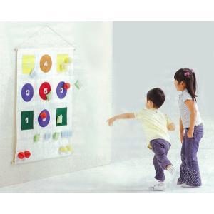 ソフトな的あてゲーム 壁掛け式 的あてボール遊び まとあてあそびD-100|tsumura
