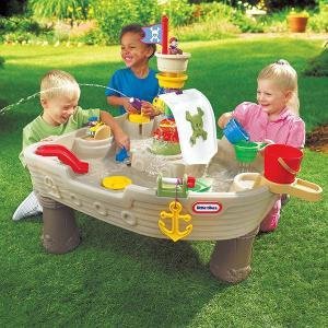 リトルタイクス 水遊び海賊船ポンプ式水あそびテーブル パイレーツウォーターテーブル据置型組立式|tsumura