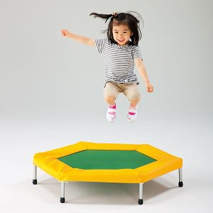 子供用トランポリン 無鉛塗装 体力向上に効果的 トランポリン運動 子ども用トランポリン 六角形ジャンピング|tsumura