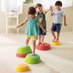 バランス遊具 レインボーバランスストーン グッドデザイン受賞商品 計6個組・SML各2個|tsumura