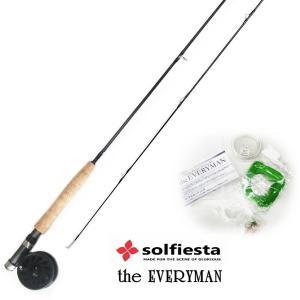 フライフィッシングセット ソルフィエスタ エブリマン ver.3 (5ピースモデル) 5800 #4 (セール対象商品) tsuribitokan-masuda