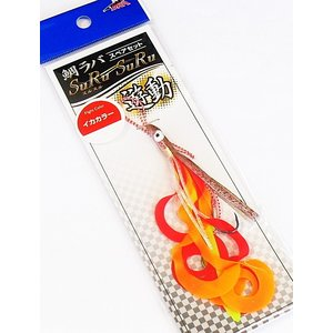 (ポイント10倍) マルシン漁具 鯛ラバ スペアセット スルスル遊動 Mサイズ イカカラー / SALE (メール便可) (年末感謝セール対象商品)|tsuribitokan-masuda