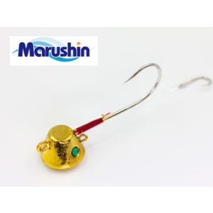 (ポイント10倍) マルシン漁具 TRD一つテンヤ ゴールドメッキ×シルバーラメ 12号 / 鯛ラバ タイラバ (メール便可) tsuribitokan-masuda