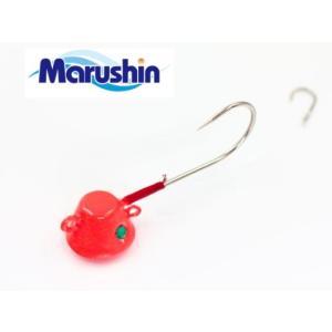 (ポイント10倍) マルシン漁具 TRD一つテンヤ オレンジ×ゴールドラメ 12号 / 鯛ラバ タイラバ (メール便可) tsuribitokan-masuda