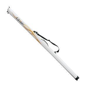 (セール 40%OFF) がまかつ スリムロッドケース GC-270 ホワイト×ゴールド 125cm (大型商品 代引不可)|tsuribitokan-masuda