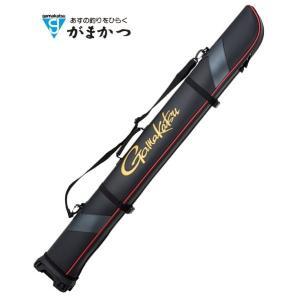 がまかつ ワイドストレートロッドケース GC-275 ブラック 155 (お取り寄せ商品) (セール対象商品)|tsuribitokan-masuda