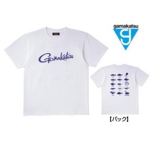 がまかつ Tシャツ (筆記体ロゴ) GM-3576 ホワイト Sサイズ (お取り寄せ商品)