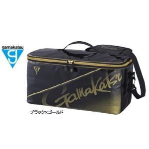 がまかつ ボックスバッグ GM-3581 ブラック×ゴールド (お取り寄せ商品)
