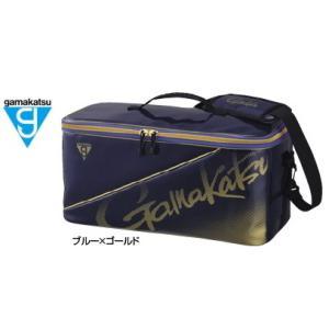 がまかつ ボックスバッグ GM-3581 ブルー×ゴールド (お取り寄せ商品)