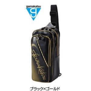 がまかつ ボディーバッグ GM-3585 ブラック×ゴールド (お取り寄せ商品)