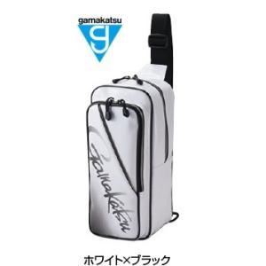 がまかつ ボディーバッグ GM-3585 ホワイト×ブラック (お取り寄せ商品)