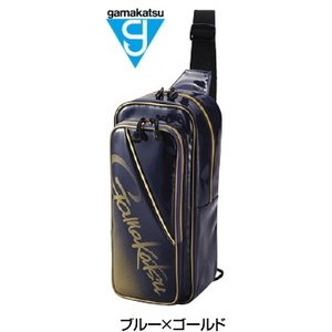 がまかつ ボディーバッグ GM-3585 ブルー×ゴールド (お取り寄せ商品)