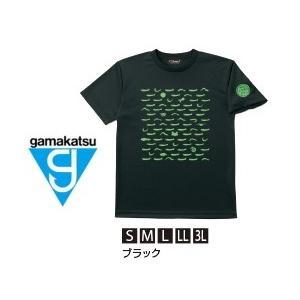 がまかつ Tシャツ (ちりめん) GM-3604 ブラック LLサイズ (お取り寄せ商品)