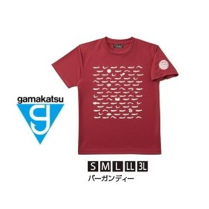 がまかつ Tシャツ (ちりめん) GM-3604 バーガンディー Lサイズ (お取り寄せ商品)