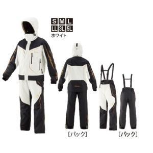 がまかつ ゴアテックス (R) オールウェザースーツ GM-3611 ホワイト Lサイズ / レイン...