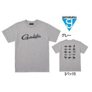 がまかつ Tシャツ (筆記体ロゴ) GM-3576 グレー Lサイズ (お取り寄せ商品)